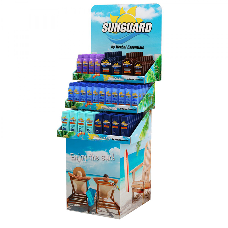 Supermarket Standard Cardboard Tray Display Rack for Hair Conditioner